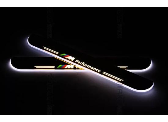 Накладки на пороги LED для BMW М 3 серии F30 (фото)