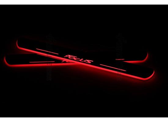 Накладки на пороги LED для Ford Focus (фото)