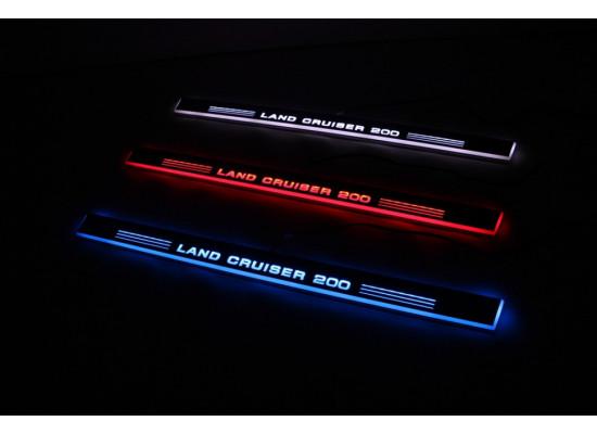 Накладки на пороги с LED подсветкой