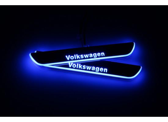 Накладки на пороги LED для Volkswagen Passat СС