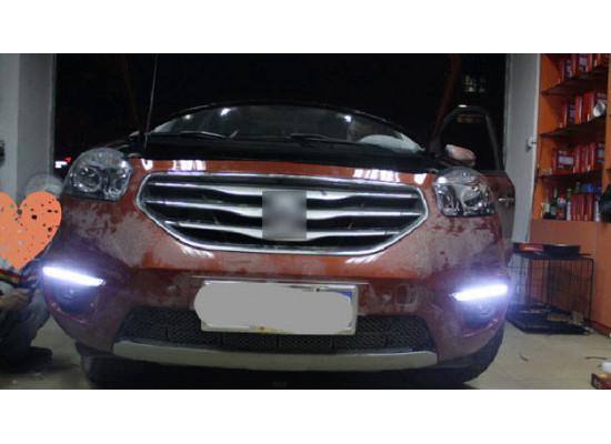 ДХО для Renault Koleos 2011-16 (оба рестайлинга) Вариант 2