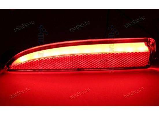 Задние габариты (ДХО) + доп. стоп сигналы + доп. поворотники Mazda 3 III седан 2013 - по н.в. Вариант 1