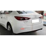Задние габариты (ДХО) + доп. стоп сигналы + доп. поворотники Mazda 3 III седан 2013 - 16. Вариант 1