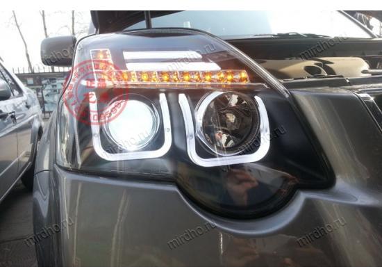 Фары для Nissan X-Trail 2 Рестаилинг 2010-15. Вариант 1 (фото)
