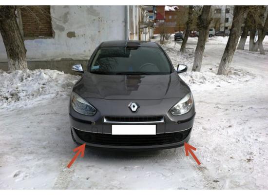 Противотуманные фары с ангельскими глазками для Renault Fluence 2009-13
