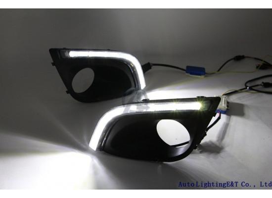 ДХО для Лада Калина 2 с повторителями поворотников (фото)