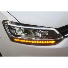 Фары для Volkswagen Polo V седан 2009-15 и Рестайлинг 2014+ (фото)