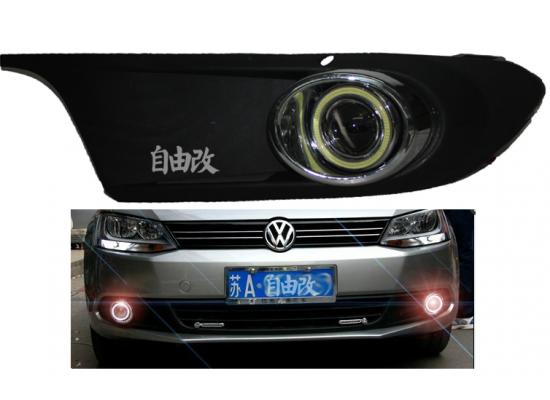 Противотуманные фары с ангельскими глазками для Volkswagen Jetta 6 2010-14 (фото)