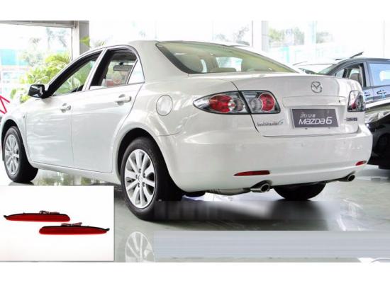 Задние габариты (ДХО) + доп. стоп сигналы + доп. поворотники Mazda 6 2002-07