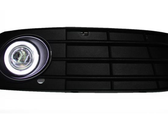 Противотуманные фары с ангельскими глазками для Audi A4 08-12 г (фото)