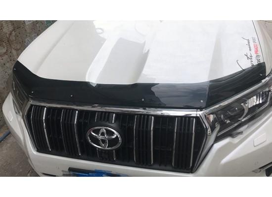 Дефлектор капота для Toyota Land Cruiser Prado 150 Рестайлинг 1 и 2 2013-по н.в. (фото)