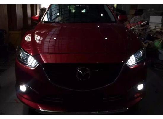 Фары для Mazda 6 Дорестаилинг 2012-15. Вариант 2 Mustang style (фото)