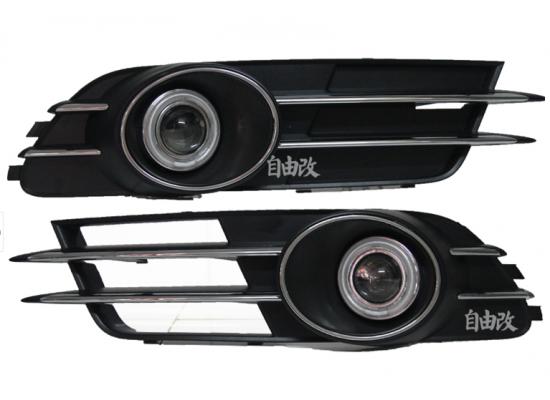 Противотуманные фары с ангельскими глазками для Audi A6 11-14 г