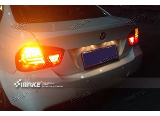 Задняя оптика для BMW 3 series  Е90 06-08 дорестаилинг в стиле 7-ки