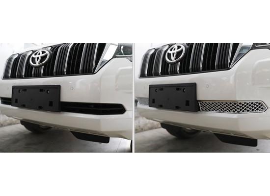 Сетка для решетки радиатора для Toyota Land Cruiser Prado 150 Рестайлинг 2 2017-по н.в. (фото)