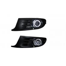 Противотуманные фары с ангельскими глазками для Volkswagen Golf 6 (фото)