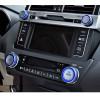 Насадки на кнопки управления климатом и магнитолой для Toyota Land Cruiser Prado  150 рестайлинг 1 13-17