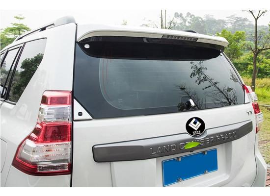 Отделка хромом стекла задней двери для Toyota Land Cruiser Prado 150 Рестайлинг 1 2013-17 (фото)