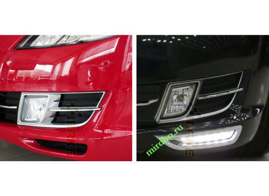 ДХО для Mazda 6 08-10 в бампер без поворотников (фото)