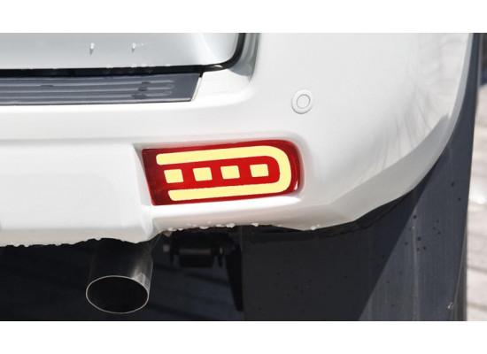 Задние дополнительные стоп сигналы + габариты + поворотники для Toyota Land Cruiser Prado 150 все кузова 2009-по н.в. (фото)