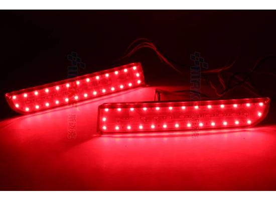 Задние габариты (ДХО) + доп стоп сигнал+ доп поворотники для Mitsubishi Lancer Х (фото)