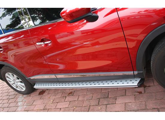 Пороги для Mazda CX 5 2011-17. Вариант 1 (фото)