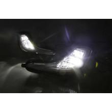 Светодиодные ПТФ с ДХО для Hyundai Solaris 1 2011-14 (фото)