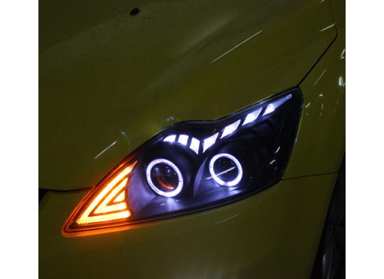 Фары для Ford Focus 2 Рестайлинг 2008-11. Вариант 2 (фото)