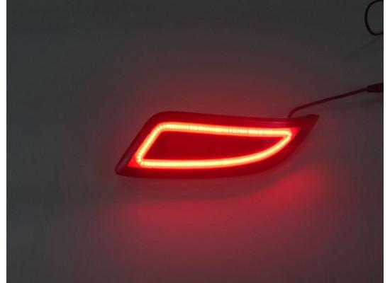 Задние габариты (ДХО) + доп. стоп сигналы Toyota Camry 7 Рестаилинг 2014-17. Вариант 1 (фото)