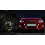 ДХО для Ford Focus 3 2011-15 глянцевый пластик (Титаниум) с поворотниками и без