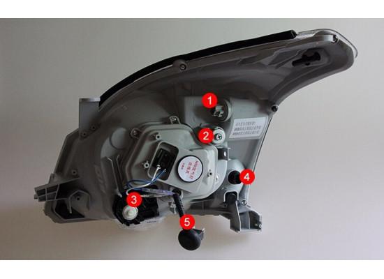 Фары для Toyota Prado 120 2002-09. Вариант 5 (фото)