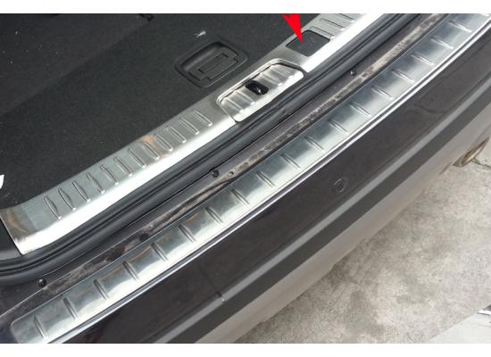 Накладка на задний бампер с загибом Chevrolet Captiva 2006-2016. Накладка в проем багажника для Шевроле Каптива 2014-2016. (фото)