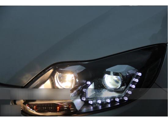 Фары для Ford Focus 3 2011-15 дорестайлинг. Вариант 5 (фото)