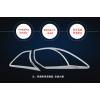 Хромированные накладки на задние фонари для Mazda CX 5 2015-2017 (фото)