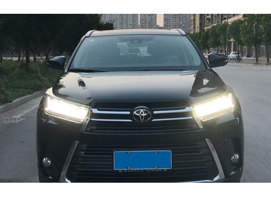 Полностью светодиодные фары для Toyota Highlander 3 Рестайлинг 2016+ Вариант 2 (фото)
