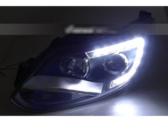 Фары для Ford Focus 3 2011-15 дорестайлинг. Вариант 6 (фото)