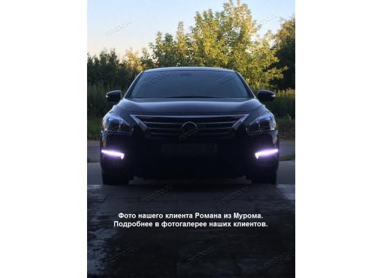 """ДХО для Nissan Teana III 2014-по н.в. с """"бегущим"""" поворотниками в стиле Audi (фото)"""