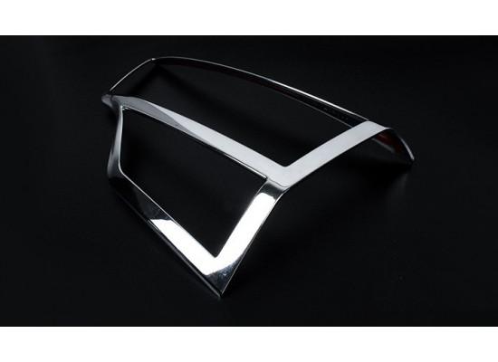 Хромированные накладки на оптику для Toyota Highlander 3 2013-16