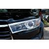 Хромированные накладки на оптику для Toyota Highlander 3 2013-16 (фото)