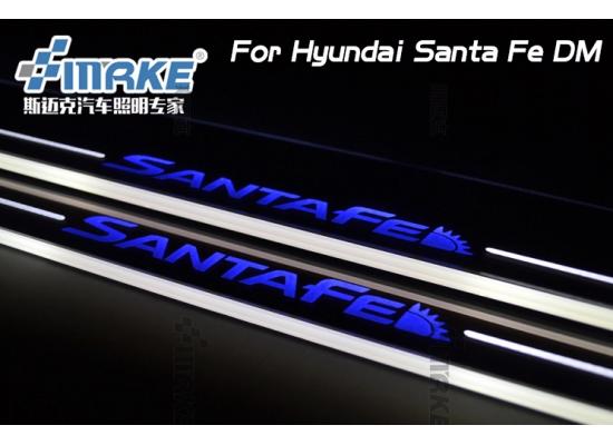 Накладки на пороги LED для Hyundai Santa-Fe 10-12 (фото)