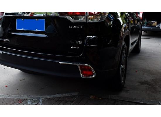 Хромированные накладки на противотуманки для Toyota Highlander 3 2013-16 (фото)