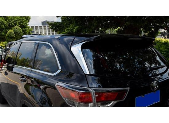 Хромированные накладки на заднее стекло для Toyota Highlander 3 2013-по н.в. (фото)