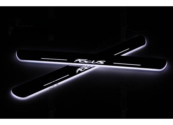 Накладки на пороги LED для Ford Focus 3 (фото)