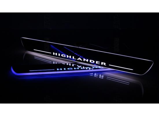 Накладки на пороги LED для Toyota Highlander