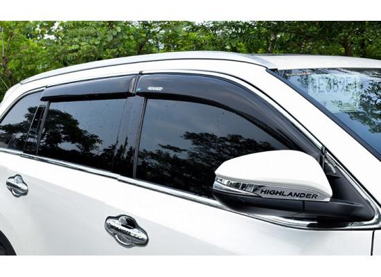 Дефлекторы окон для Toyota Highlander 3 2013-по н.в. (фото)