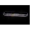 Накладки на пороги LED для Chevrolet Cruze Вариант 1