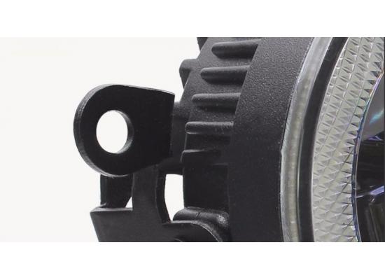 Светодиодные противотуманные фары с ДХО и с ангельскими глазками в стиле BMW (3в1)