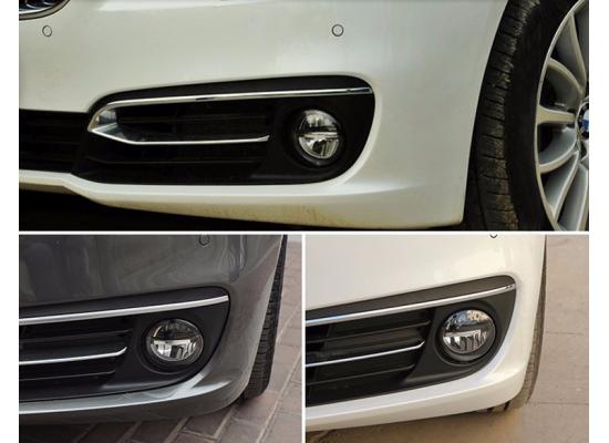 Светодиодные противотуманные фары с ДХО и с ангельскими глазками в стиле BMW (3в1) (фото)