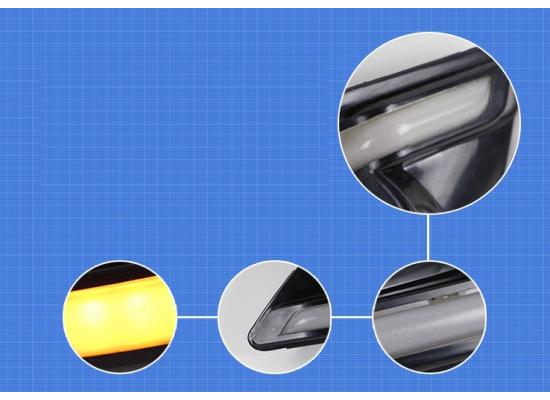 ДХО для Ford Fiesta 2014-2015 Вариант 1 (фото)