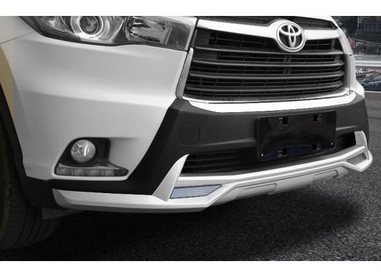 Обвес на передний и задний бампер для Toyota Highlander 3 2013-16 (фото)